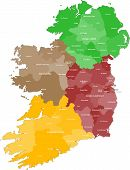pic of ireland  - A large and detailed map of Ireland with all counties and main cities - JPG