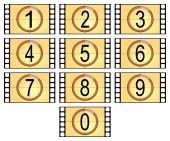 numbered filmstrips