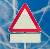 Blank Triangular Traffic Sign