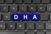 Docosahexaenoic Acid Or Dha Word On Keyboard