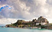 The Old Fortress of Corfu Town, Greece. Built by the Venetians it is still used for cultural events