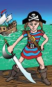 Little Girl Pirate with Attitude