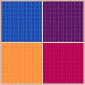 Set Of Four Bright Knitted Backgrounds.