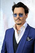 LOS ANGELES - APR 10: Johnny Depp at the premiere of 'Transcendence' at the Regency Village Theater