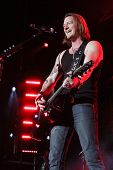 LAS VEGAS-APR 4: Tyler Hubbard of Florida Georgia Line performs at the 2nd Annual Academy of Country Music (ACM) Party For A Cause Festival -