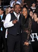 LOS ANGELES - MAR 18:  Mekhi Phifer & Reshelet Barnes  arrives to the 'Divergent' Los Angeles Premie