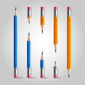 Short and long pencil set