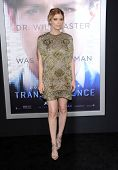LOS ANGELES - APR 10:  Kate Mara arrives to the 'Transcendence' Los Angeles Premiere  on April 10, 2