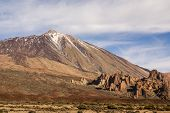 Teide National Park Roques De Garcia In Tenerife At Canary Islands