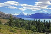 Lake Tekapo and Aoraki, Mount Cook National Park, South Island New Zealand