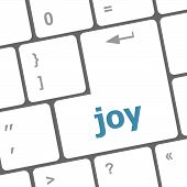Joy Word On Computer Keyboard Pc Key