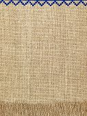 Linen Natural Texture Pattern With Fringe.background.
