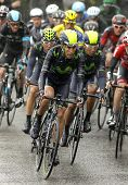 BARCELONA - 30, MARCH: Jose Herrada of  Movistar Team rides during the Tour of Catalonia cycling rac