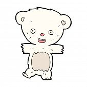cartoon teddy polar bear cub