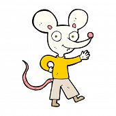 cartoon waving mouse