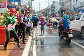 Celebration Of Songkran Festival, The Thai New Year On Phuket