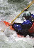 Paddling In Rapids