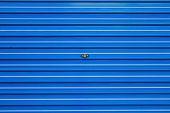 foto of roller door  - blue roller shutter - JPG