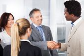Multiethnic Businesspeople Shaking Hand