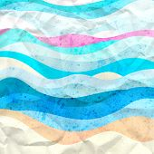 Bright Abstract Background Of Waves