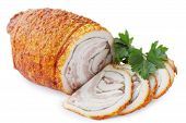 fat with spices rolled, isolated