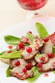 Salad with ramson and cranberry
