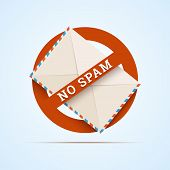 image of no spamming  - No spam illustration - JPG