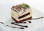 Tasty tiramisu dessert