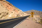 Road Towards At The Valley Of Fire State Park