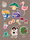 stock photo of alice wonderland  - Alice In Wonderland Stickers - JPG