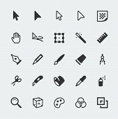 Vector Graphic Editor Mini Icons Set