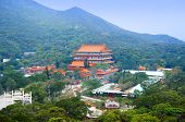 pic of lantau island  - Po Lin Nunnery on the Lantau Island of Hong Kong - JPG