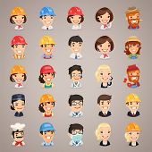 Professions Vector Characters Icons Set1.3