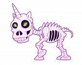 picture of unicorn  - Resurrected evil skeleton of small unicorn - JPG