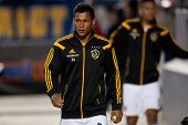 CARSON, CA - APRIL 12: Los Angeles Galaxy M Kenney Walker #34 during the MLS game between the Los An