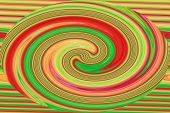 Red and Green Swirl - Color Background of Abstract Art and Screensaver beauty