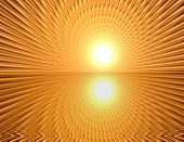 foto of wane  - Space warp travel through orange gold abstract universe - JPG