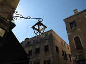 Venice Italy With Street Light