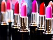 Lipstick. Makeup concept. Fashion Colorful Lipsticks. Professional Makeup and Beauty. Beautiful Make