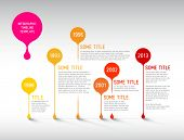 Vector Infographic timeline report template with bubbles