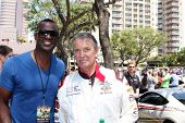 LOS ANGELES - APR 12:  Brian McKnight, Eric Braeden at the Long Beach Grand Prix Pro/Celeb Race Day