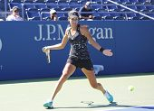 Grand Slam champion Ana Ivanovich practices for US Open 2014 at Billie Jean King National Tennis Cen