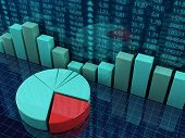 pic of stock market data  - 3d rendered illustration about financial success concept - JPG