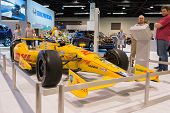 Honda-powered Ryan Hunter-Reay at the Orange County International Auto Show
