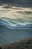 Moody Skies Over Mountains In Balagne Region Of Corsica