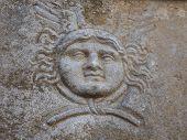 Gorgon in the ancient city of Ephesus