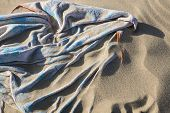Sand Covered Beach Towel
