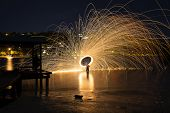 Steel Wool Spinning 30 second exposure