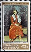 GUINEA - CIRCA 1981: A stamp printed in Republic of Guinea Bissau shows The Barefoot Girl