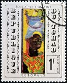 CHAD - CIRCA 1969: A stamp printed in Republic of Chad shows draw by Bezombes
